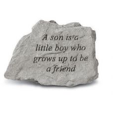 A Son Is A Little Boy Who Grows Up... All Weatherproof Cast Stone