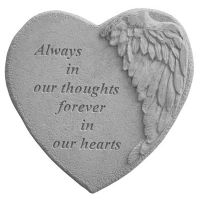 Always In Our Thoughts... All Weatherproof Cast Stone Memorial