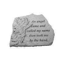 An Angel Came...w/Fern All Weatherproof Cast Stone Memorial