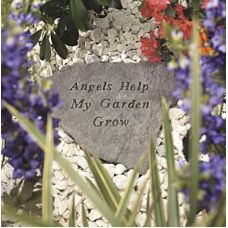 Angels Help My Garden Grow All Weatherproof Cast Stone