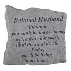 Beloved Husband Although You Can'T Be Here.. Cast Stone Memorial
