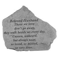 Beloved Husband Those We Love Don't Go Away.. Cast Stone Memorial