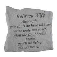 Beloved Wife Although You Can'T Be Here All Cast Stone Memorial