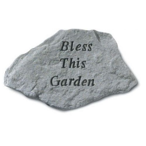 Bless This Garden All Weatherproof Cast Stone - 707509663209 - 66320