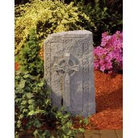 Celtic Cross Obelisk All Weatherproof Garden Cast Stone
