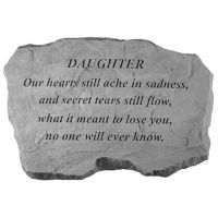 Daughter-Our Hearts Still Ache... All Weatherproof Cast Stone