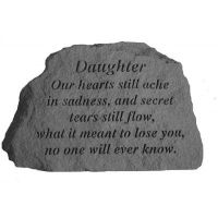 Daughter - Our Hearts Still... All Weatherproof Cast Stone Memorial