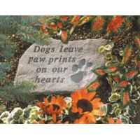Dogs Leave Pawprints All Weatherproof Garden Cast Stone