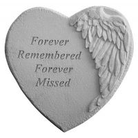 Forever Remembered... Cast Decorative Stone Weatherproof Cast Stone