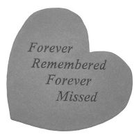 Forever Remembered... Cast Stone All Weatherproof Cast Stone