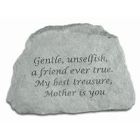 Gentle, Unselfish, Mother is You, All Weatherproof Cast Stone