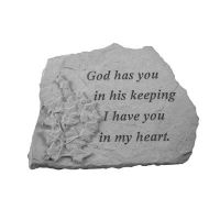God Has You... w/Ivy All Weatherproof Cast Stone Memorial