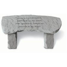 Gone Yet Not Forgotten (Bench) All Weatherproof Cast Stone Memorial