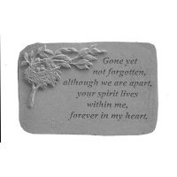 Gone Yet Not... w/Birds Nest All Weatherproof Cast Stone Memorial