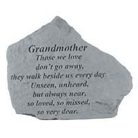Grandmother Those We Love Don't Go Away All Cast Stone Memorial