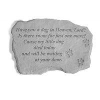 Have You A Dog In Heaven... All Weatherproof Cast Stone Memorial