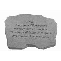 Hope That Soon... All Weatherproof Cast Stone Appreciation Garden Rock