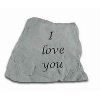 I Love You Cast Decorative Stone All Weatherproof Cast Stone