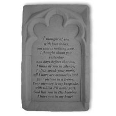 I Thought Of You... All Weatherproof Cast Stone Memorial