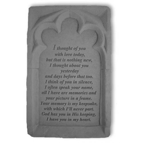 I Thought Of You... All Weatherproof Cast Stone Memorial - 707509490201 - 49020