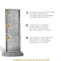 I Thought of You - Totem Weatherproof Cast Stone Memorial