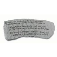 I Thought Of You With Love...(Bench) All Weatherproof Cast Stone
