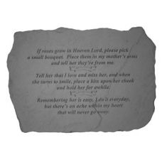 If Roses Grow In Heaven... All Weatherproof Cast Stone Memorial