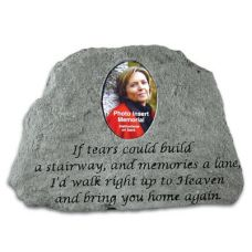 If Tears Could Build( w/ Photo Insert) All Cast Stone Memorial