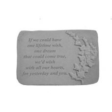 If We Could Have... w/Ivy All Weatherproof Cast Stone Memorial