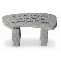May You Find Comfort...(Ground Level Fountain) Weatherproof Cast Stone