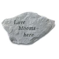 Love Blooms Here All Weatherproof Cast Stone