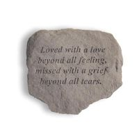 Loved With A Love... Cast Decorative Stone All Weatherproof Cast Stone