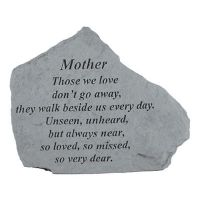 Mother Those We Love Don't Go Away All Cast Stone Memorial