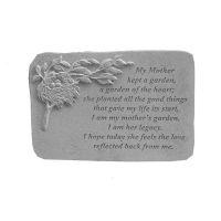My Mother Kept... w/Birds Nest All Weatherproof Cast Stone Memorial