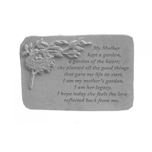 My Mother Kept... w/Birds Nest All Weatherproof Cast Stone Memorial - 707509075118 - 07511