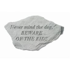Never Mind The Dog, Beware All Weatherproof Garden Cast Stone
