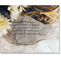 No Farewell Words... Cast Decorative Stone All Weatherproof Cast Stone