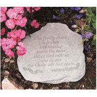 Our Family Chain Is Broken... Decorative Weatherproof Cast Stone