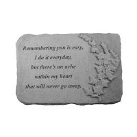 Remembering You Is... w/Ivy All Weatherproof Cast Stone Memorial
