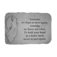 Someday We Hope...(With Standing Angel) All Weatherproof Cast Stone