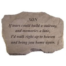 Son-If Tears Could Build... All Weatherproof Cast Stone