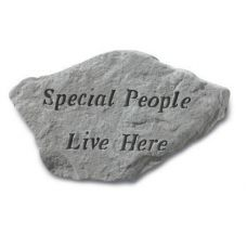 Special People Live Here... All Weatherproof Cast Stone