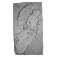Standing Angel Weatherproof Cast Stone Plaque