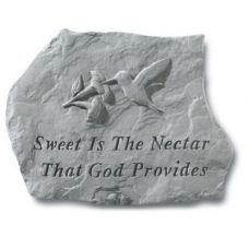 Sweet Is The Nectar That God Provides All Weatherproof Cast Stone
