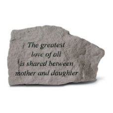 The Greatest Love Of All Is Shared... All Weatherproof Cast Stone