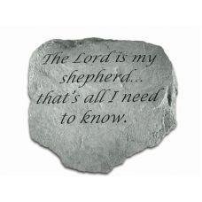 The Lord Is My Shepherd... All Weatherproof Cast Stone