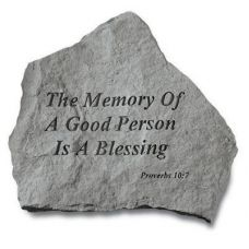 The Memory Of A Good Person... All Weatherproof Cast Stone