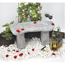 The Romance Of A Thousand...(Small Bench) All Weatherproof Cast Stone
