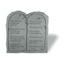 The Ten Commandments (Tablet) All Weatherproof Cast Stone