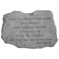 There's Noting In This... All Weatherproof Cast Stone Memorial